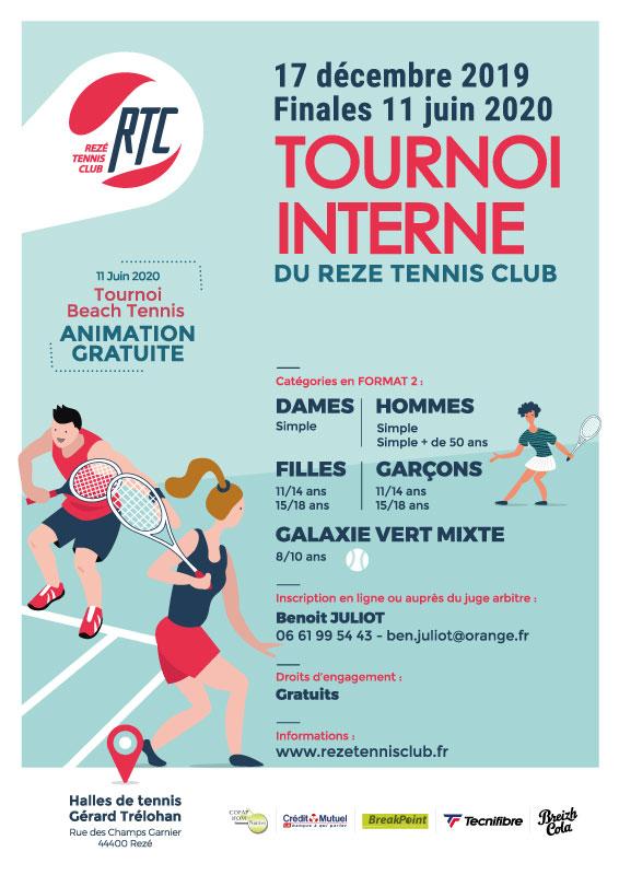 Tournoi interne-A partir du 17 décembre 2019 - Finales le 11 juin 2020
